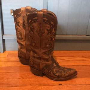 Lucchese Fiona western boots in cafe brown 5.5B